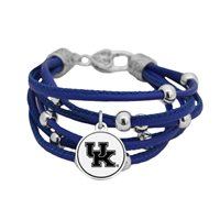 Kentucky Wildcats Multi Line Blue Leather Bracelet Jewelry Licensed UK Gift