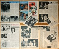 DAVID JANSSEN The Fugitive TV Series 1960s clippings magazine articles photos