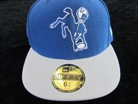 INDIANAPOLIS COLTS Vintage LOGO Cap MENS Hat Embroidered FITTED 6 3/4 NEW ERA