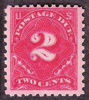 US J53 2c Postage Due F-VF OG H SCV $70