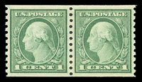 452 Coil pair. 2009 PSE certificate graded 100-OG-NH. Absolute perfection in regards to centering, color and freshness. Only three examples have graded 100 and none have graded higher $1,200.00