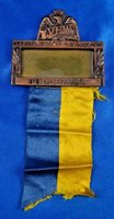 1947 VFW Delegate 48th National Encampment Cleveland OH Medal Ribbon Green Duck