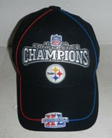 NEW Super Bowl XL 40 Pittsburgh Steelers 2005 Conference Champs Hat Cap Reebok