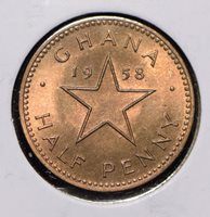 Ghana 1958 1/2 Penny 291953 combine shipping
