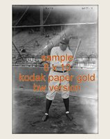 YOUNG BABE RUTH NY YANKEES 8 X 10 FIXED BY LOVING FANS ON KOD-AK PAPER PRO LAB