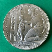 PHILIPPINES 2020 MANILA MINT 100 YEARS COMMEMORATIVE MEDAL, SILVER, UNCIRCULAT