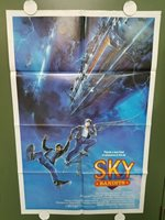 "1986 SKY BANDITS One Sheet Poster 27""x41"" Scott McGinnis AIRPLANE ACTION"
