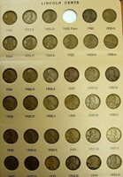 1921 - 1958 PDS VG/AU LINCOLN CENTS SET MISSING ONLY 1922 PLAIN FREE SHIPPING