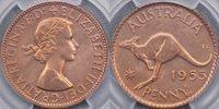 1955 Perth Proof Penny - PCGS PR62RB