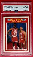 1989 Fleer All-Star Game Patrick Ewing/Mark Jackson #167 Basketball PSA 8 NM-MT