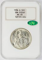 1936-D Commemorative Half Dollar San Diego NGC MS-65 CAC