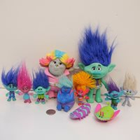 DreamWorks TROLLS Movie Collectible Dolls Toys Figures Lot of 9 Figures !!!
