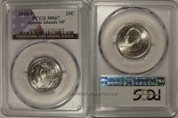 2018 P Apostle Islands NP Quarter 25c PCGS MS67 USA Flag