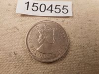 1968 Hong Kong Fifty Cents - Very Nice Unslabbed Raw Album Coin - # 150455