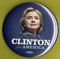 """2016 Hillary Clinton 3""""(Large Size) / Presidential Campaign Button(xmas)"""