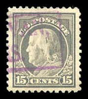 516 Purple boxed town cancel. 2013 PSE certificate graded 90J. Choice $65.00