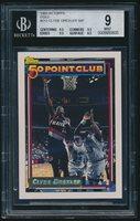 1992-93 Topps Gold #212 Clyde Drexler 50P 50 Point Club BGS 9 Mint