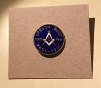 Oregon No. 101 100th Year 1891 - 1991 Masonic Pin - Enameled