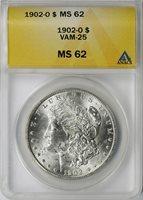 1902-O $1 Morgan Dollar VAM-25 ANACS MS62