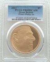 2011 Royal Mint Prince Philip £5 Five Pound Gold Proof Coin PCGS PR69 DCAM