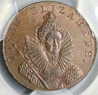 1794 PCGS MS 64 Elizabeth I Chichester Cross Conder Sussex D&H 15 (19071001C)