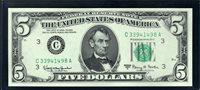 $5 1963A Philadelphia. Granahan-Fowler. F1968C. Gem Uncirculated. C33941498A.