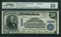 Fr No.661 $20 New York 1902 12284 Niagara Falls PMG 25