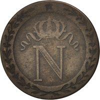 France, 10 Centimes, 1808 Nantes, VF(30-35), Billon, KM:676.8, Gadoury:190