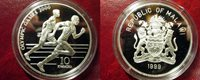 1999 Malawi Large Proof Silver 10 Kwasha Olympic Runner