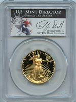 1994 W $25 PCGS PR69 DCAM 1/2 OZ AMERICAN GOLD EAGLE PROOF PHILLIP DIEHL SIGNED