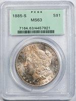 1885-S $1 MS63 PCGS