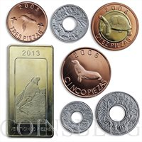 The Galapagos Islands, set of 7 coins, Local Fauna 2008 - 2013