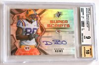 2007 SPX Super Scripts DWAYNE BOWE Rookie BGS 9 Mint Auto LSU TIGERS Chiefs SP