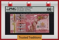 100 Rupees 2013 Seychelles Central Bank Pmg 66 Epq Pop 1 Finest Known!