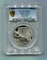 PCGS MS 64 SOUTH AFRICA 2000 R1 SILVER PROTEA WINE PRODUCTION COIN - 612 MADE