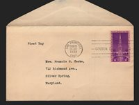 US SC# 852 / FDC / San Francisco Cancel - Lot 1019028