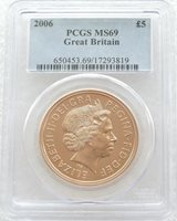 2006 St George and the Dragon £5 Sovereign Gold Coin PCGS MS69
