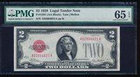 AC 1928 $2 Legal Tender PMG 65 EPQ Fr 1501 .. gem uncirculated