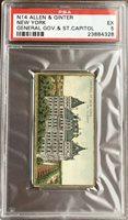 1889 N14 Allen & Ginter General Govt & State Buildings NEW YORK PSA 5 EX