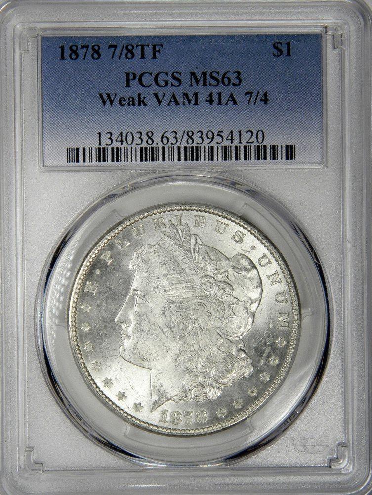 1878 7 8tf Vam41a 7 4 Morgan Dollar Nice Fresh Slab P