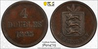1885 4 Dbl Guernsey 4 Doubles - PCGS PR50 ONLY 10 Pieces Known!! True View!! Top Pop!!