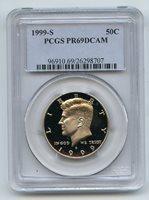 1999 S 50C Kennedy Half Dollar PCGS PR69DCAM