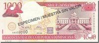 1000 Pesos Oro 2001-2002 Dominican Republic Banknote, 2000, Km:163s