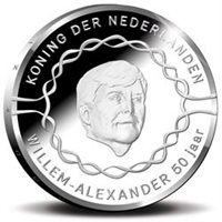 "2017 Netherlands €10 Coin Issue ""King Willem-Alexander 50 Years"""