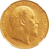 Great Britain, Edward VII 2 Pounds Gold Head Right 1902 KM806 UN...