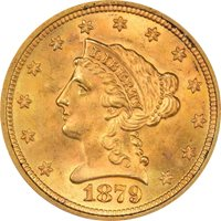 1879 $2.50 Liberty Head Quarter Eagle PCGS MS66 CAC