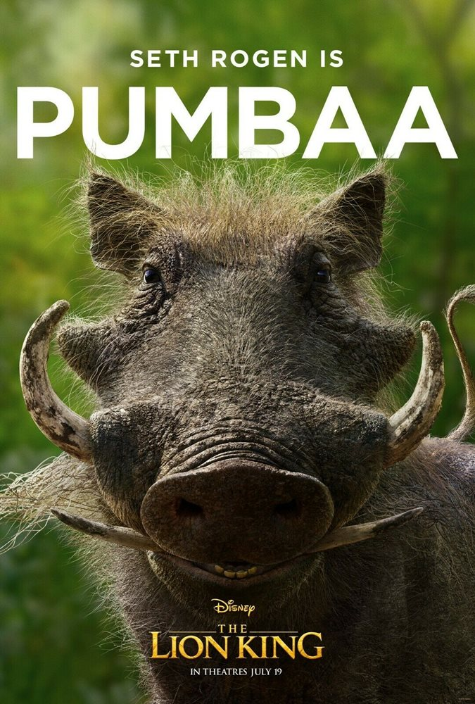 The Lion King Movie Poster 2019 11 X 17 Pumbaa