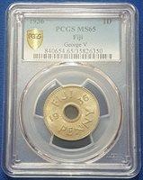1936 Fiji Islands 1 Penny PCGS MS65 - A11