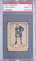 1951/52 Parkhurst #80 Fern Flaman Rookie Card - PSA NM-MT 8