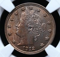 """1912 D LIBERTY """"V"""" NICKEL NGC MS 62 LOOKS MUCH BETTER THAN THE ASSIGNED GRADE"""